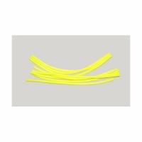 Кембрик LUMICOM силиконовый, d-2x4, дл.-16см, желтый флюоресцентный (4 шт./уп.)
