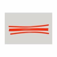 Кембрик LUMICOM силиконовый, d-2x4, дл.-16см, красный флюоресцентный (4 шт./уп.)