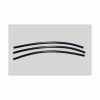 Кембрик LUMICOM силиконовый, d-2x4, дл.-16см, черный (4 шт./уп.)