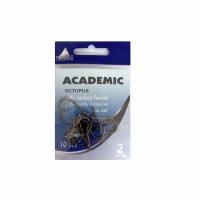 Крючки ACADEMIC Octopus №2, серия U007, carbon, цв. медь (10шт/пак)