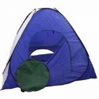 Палатка автомат зимняя, 180*180см, h-140см, с дном на молнии, цвет сине-белый (арт. G)