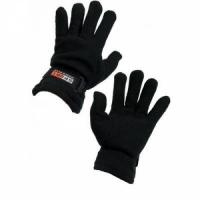 Перчатки SPORT, ткань двойной флис, фиксатор на запястье, цвет черный