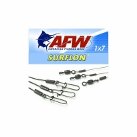 Поводок оснащённый AFW Surflon Black 1х7  9кг. 15см. (3шт.)
