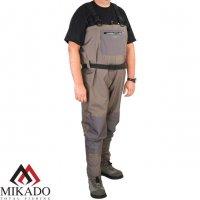 Вейдерсы мембрана с неопрен. носком (полукомбинезон) Mikado UMW01 размер XXL