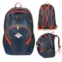 Рюкзак CLIMB 35 л, В45*Ш30*Г20, спортивный (городской), усил. спинка, цвет син./оранж.BOREN-3)
