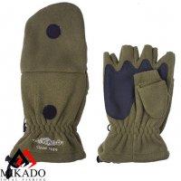 Перчатки рыболовные флисовые Mikado UMR-08G размер L