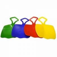 Ледянка Зайка пластик, 40*40*2,5 см, макс нагр до 120 кг, цвет в ассортименте