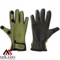 Перчатки рыболовные неопреновые Mikado UMR-03 размер L