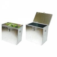 Ящик зимний РОСТ рыбацкий 40x19x29, 22л,аллюминевый, окрашенный 0,5мм, арт. 6-01-0122