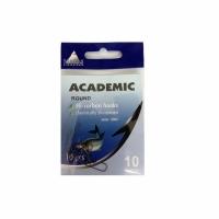 Крючки ACADEMIC Round №12, серия U004, carbon, цв. никель (10шт/пак)