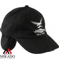 Бейсболка зимняя с фонариком 5 LED Mikado UM-ULED03 чёрная