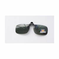 Накладка-прищепка на очки, поляризационная, цв. зеленый (6304)