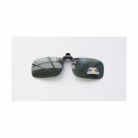 Накладка-прищепка на очки, поляризационная, цв. зеленый (6301)