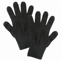 Перчатки вязаные, цвет черный