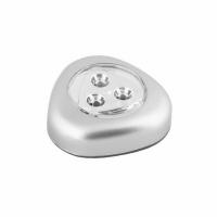 Светильник ULTRAFLASH LED6244 (стикер 3XR03, серебро, 3LED, пластик, блистер)