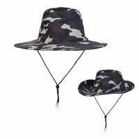 Шляпа, камуфлированная с широкими полями, цв. коричневый  (JP2-(1-5))