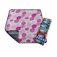 Плед для пикника PICNIC MAT 150*300см, водонепр. подкладка, цв. сиреневые цветы