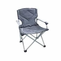 Кресло ELITE В95*Ш65*Г65, раскл., с подлок., алюм. каркас, до 120 кг, Polyester, цв. серый (1333)