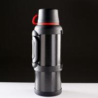 Термос ALONG 3,6л, узкое + широкое горло, двойная ручка, кнопка-дозатор, 2 чашки, цвет бронза (9)