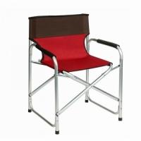 Кресло KUTBERT, В80*Ш55*Г50, складное, подлокотн., алюм. каркас, до 110 кг, цв.борд.-корич(1808)(6)