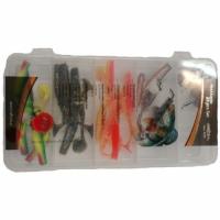 Набор силиконовых приманок Mikado (в коробке виброхв. FISHUNTER TT 7,5см-20шт.+джиг-3шт.)