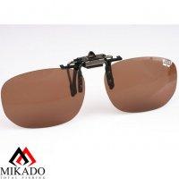 Насадка на очки поляризационная Mikado CPON-BR (коричневые линзы)