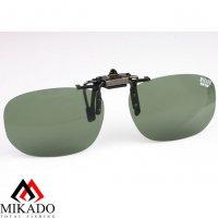 Насадка на очки поляризационная Mikado CPON-GR (зелёные линзы)