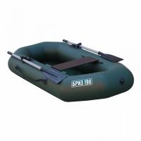 Лодка ТОНАР ПВХ Бриз 190 (1 мест.,р-р 195*96 см.) с веслами,с сиденьем, цв.зел.,до 150 кг.,2 герм.отсе