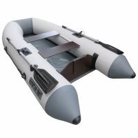 Лодка ТОНАР ПВХ Капитан 260Т (2 мест.,р-р 260*130 см) транец 14мм (до 4л.с.), 2 весла, 2 сид, до 210кг.