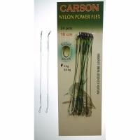 Поводок CARSON оснащенный, нейлон, 20см, 7 кг