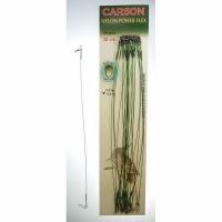 Поводок CARSON оснащенный, нейлон, 30см, 14кг