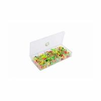 Набор кембриков силиконовых №1, в коробочке СВ-01 (100*50*17мм.)