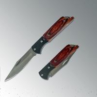 Нож складной, малый, рукоятка дерево- 8,5 см, длина 15 см, неж.сталь (KA-237)