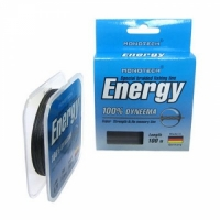 Шнур плетеный зимний ENERGY 25м  0,16 (черный)