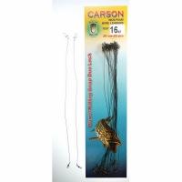 Поводок CARSON оснащенный, вольфрам, Duo Lock, 26см, 8кг