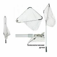 Подсачек телескоп. треуг., рукоятка 170см, 50*50см, 3 секции, складной, алюм., леска упрочн.