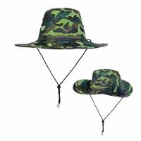 Шляпа, камуфлированная с широкими полями, цв. зеленый  (JP2-(1-5))
