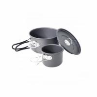Набор посуды анодир. алюм.(котелок 0,85л + кружка 170мл), с крышкой, в чехле, P03029-11 (12)