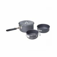 Набор посуды анодир. алюм(ковш 0.9л +  345мл +  255мл), в чехле, P04017-11 12