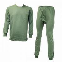 Термобелье (Россия) 100% хлопок, цвет зеленый, легкое, размер 56-58