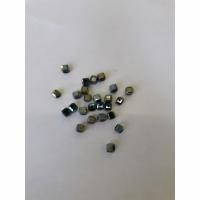 Бусины рыболовные КУБИК, d 3мм, цв. 02 Хамелеон (25шт/уп)