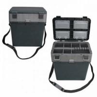 Ящик зимний HS-317, пластик В37*Ш37*Г23, 19л, мягк. сидушка, ремень, t от -40 до +50, до 120кг