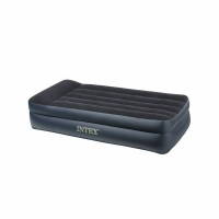 Кровать INTEX Twin Pillow Rest Raised Airbed , флок, 191х99х42см, синий (66721) (3)