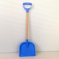 Лопатка для снега детская, пластик, дерев ручка, цвет в ассортименте (10)