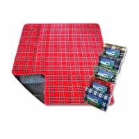 Плед для пикника PICNIC MAT 150*180см., водонепр. подкладка, цв. шотландка зеленая клетка