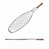 Решетка гриль FORSTER 52*32*12 см, для рыбы, дерев. ручка (16120-1)   30