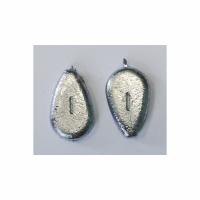 Груз S-FISH Капля плоская, скользящая,  60гр (1 шт)