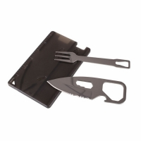 Мультиинструмент визитка SWISS ELITE 6 в 1 (нож, вилка, линейка, открывалка, ключ гаечн., брелок)
