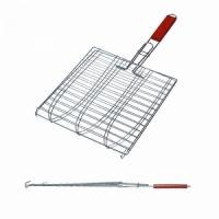 Решетка гриль FORSTER 27*29*52 см, на 3 рыбы, дерев. ручка (16120-3) (8)
