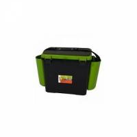 Ящик зимний HELIOS FishBox  В32*Ш38(50 с уч.нав.карм)*Г25, 19л,одн.секц.,2 карм.,ремень,зеленый (6)